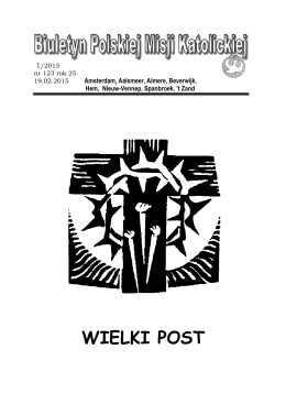 wielki post 15.pub - Poolse Katholieke Missie Amsterdam