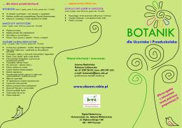 Oferta edukacyjna Ogrodu Botanicznego Uniwersytetu im. Adama