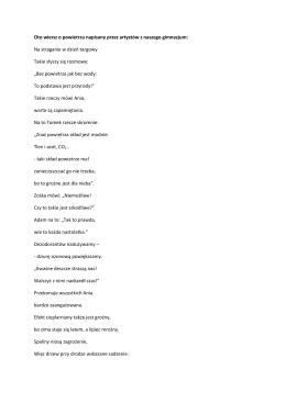 Wiersz o powietrzu napisany przez naszych uczniów