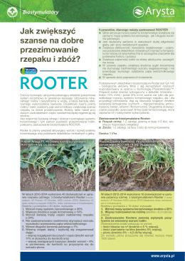 Rooter - artykuł - Arysta LifeScience Polska