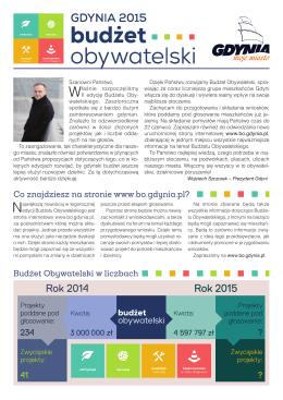 Wkładka dotycząca Gdyńskiego Budżetu