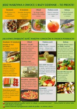 jedz warzywa i owoce 5 razy dziennie – to proste!