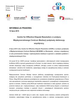 Deklaracja współpracy CEDR & MCM