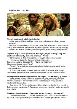 Pójdz za Mną (J 1,43-51)