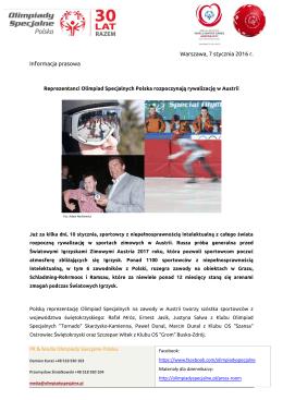 Reprezentacji OS Polska w Austrii