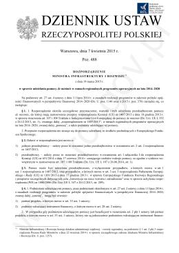 Rozporządzenie Ministra Infrastruktury i Rozwoju z dnia 19