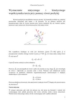 PF-12 Wyznaczanie statycznego i kinetycznego współczynnika