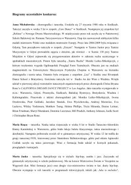 Biogramy uczestników konkursu: