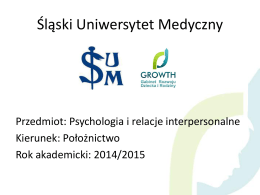 Komunikacja interpersonalna – prezentacja - Psycholog Bielsko