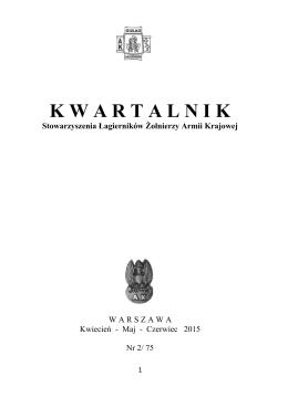 Kwartalnik kwiecień, maj, czerwiec 2015 2/74 (PDF 13 MB)