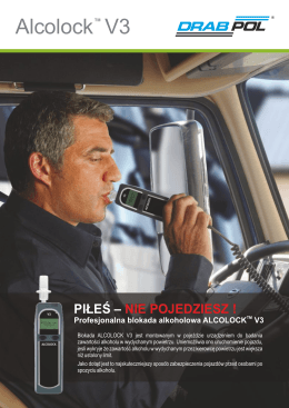 ALCOLOCK V3, blokada alkoholowa