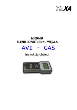 Instrukcja miernika AVI-GAS