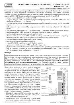 Instrukcja rozszerzona GSM2