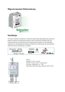 Higrotermostat Elektroniczny Instalacja