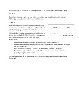Zadania z rekrutacji 2015