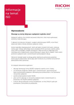 Informacje na temat ISO