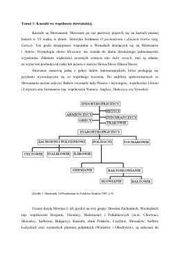 Temat 1: Kaszubi we wspólnocie słowiańskiej. Kaszubi są