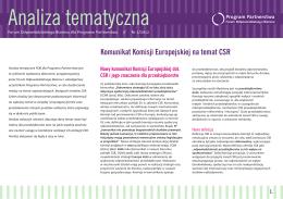 Komunikat Komisji Europejskiej na temat CSR