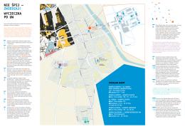 mapa Warszawy z propozycją wycieczki