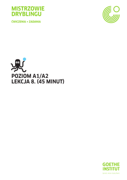 POZIOM A1/A2 LEKCJA 8. (45 MInut) MIStRZOWIE DRYBLInGu