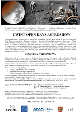 CWINT OPEN DAYS ASTROSHOW