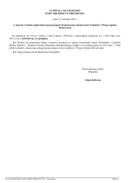 UCHWAŁA NR XII/102/2015 RADY MIEJSKIEJ W