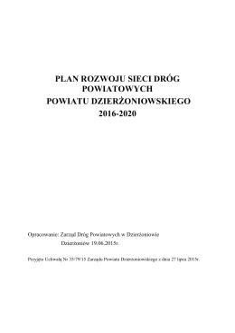 Plan Rozwoju Sieci Dróg - Zarząd Dróg Powiatowych w Dzierżoniowie