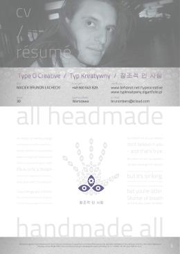 Typ Kreatywny - CV 2015