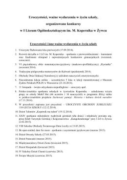 wazne wyd-konkursy 2014 - Starostwo Powiatowe w Żywcu