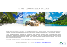 Seszele - cennik 2015/2016