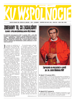 Ku_wspolnocie_2_2015 - Parafia św. Józefa w Lublinie