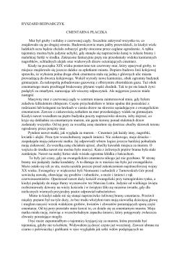 "Ryszard Bednarczyk ""Cmentarna płaczka"""