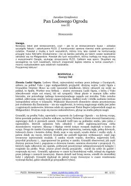 Pan Lodowego Ogrodu - Robert Siata: czytelnia