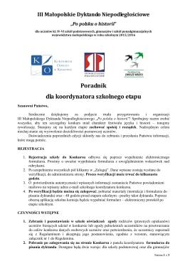 załącznik1 - Małopolskie Dyktando Niepodległościowe