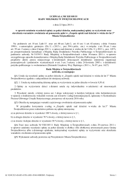 Uchwala Nr XII/105/15 z dnia 22 lipca 2015 r.