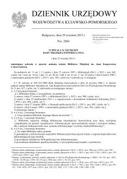 Uchwala Nr XII/106/2015 z dnia 22 wrzesnia 2015 r.