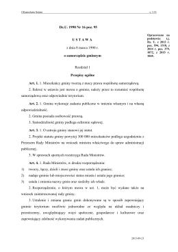 ustawy o samorządzie gminnym