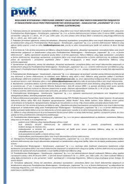3) regulamin wystawiania i przesyłania odbiorcy