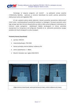 pdf Parametry elektryczne w odniesieniu do innych