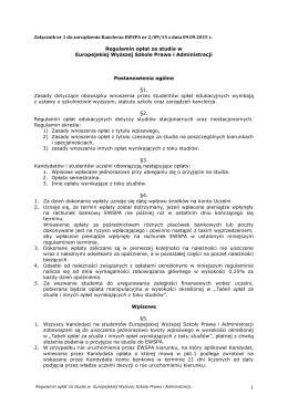 wrzesień 2015 regulamin oplat