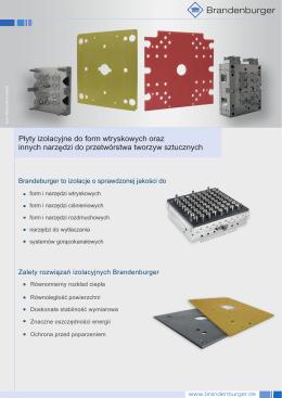 Płyty izolacyjne do form wtryskowych oraz innych