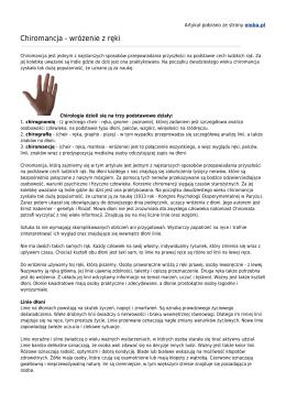 Chiromancja - wróżenie z ręki