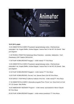 program animator 2015