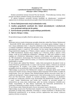 Protokół Nr 3/15 z dn. 13.02.2015