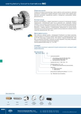 Wentylatory bocznokanałowe SC Venture Industries