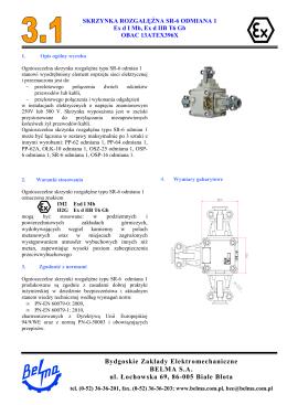 Karta katalogowa SR-6 odmiana 1
