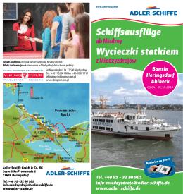 Schiffsausflüge Wycieczki statkiem - Adler
