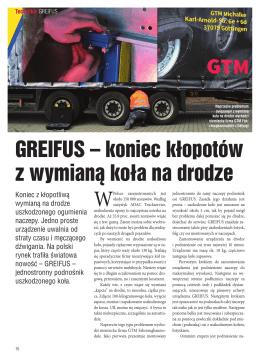 GREIFUS – koniec kłopotów z wymianą koła na