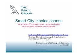 Smart City: koniec chaosu