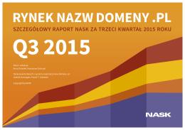 Raport za trzeci kwartał 2015